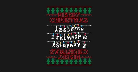 christmas lights stranger  font