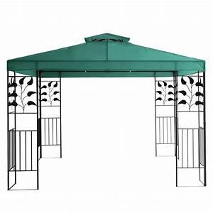 Metall Pavillon Mit Dach : pavillon 3x3m metall gartenpavillon festzelt dach zelt garten wasserfest gr n ebay ~ Sanjose-hotels-ca.com Haus und Dekorationen