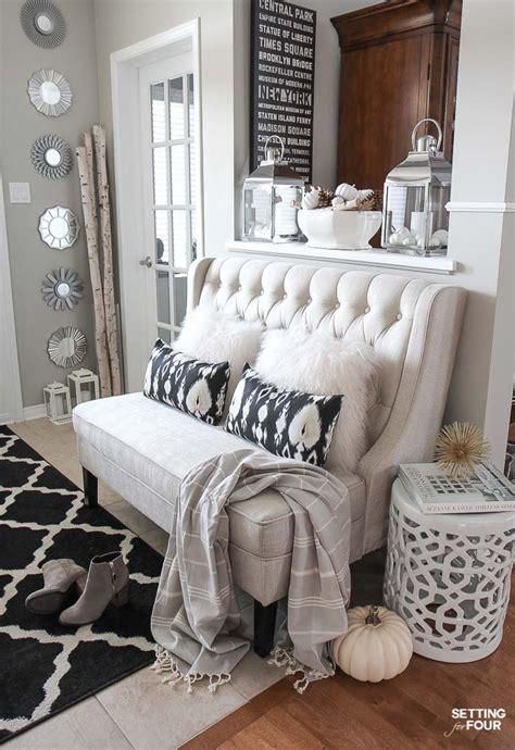 elegant fall entryway decor ideas setting