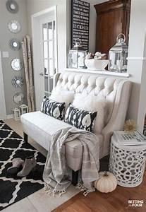 Elegant Fall Entryway Decor Ideas Setting For Four