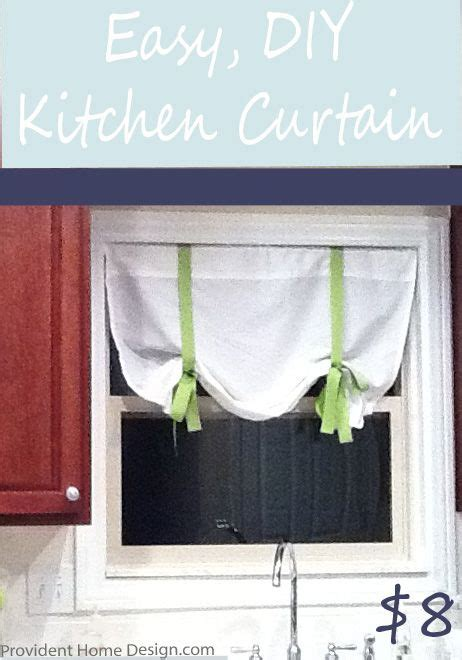 diy easy kitchen curtains sewing projects