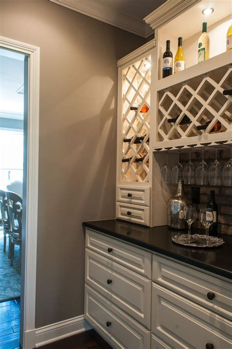 Bar Built In by Built In Wine Bar Cabinets And Countertops Match Ours