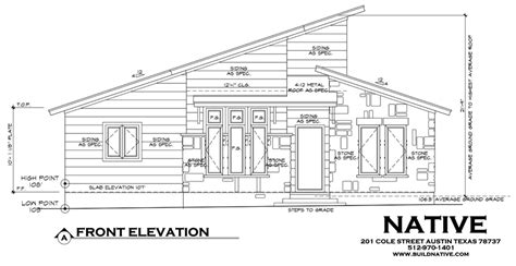 front elevation drawing native