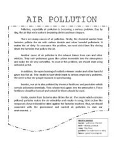 Air Pollution  Esl Worksheet By Fairyha