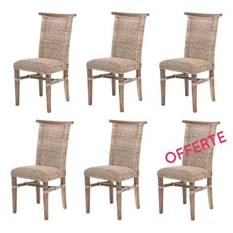 chaise haute en rotin lot de 6 chaises de salle à manger en rotin chaise en