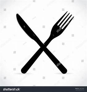 Crossed Fork Over Knife Illustration Stock Vector ...