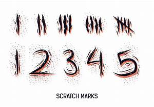 Numbered Scratch Marks Vector - Download Free Vector Art ...