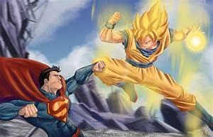 Son Goku Vs Superman by Amenoosa on DeviantArt