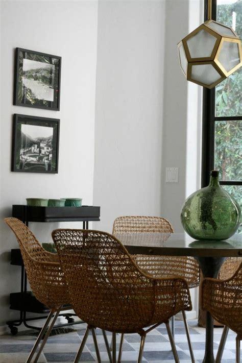chaises tressées chaises tressees salle manger 7 idées de décoration