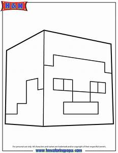 Steve Head Coloring Page
