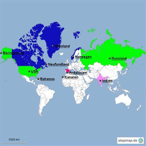 StepMap - Entdeckung Amerikas - Landkarte für Welt