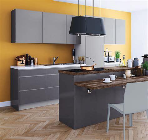 quelle couleur de mur pour une cuisine grise cuisine platine