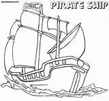 Pirate Coloring Ship Sheet Ocean Fresh Pirateship Colorings sketch template