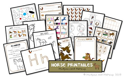 mudpies and make up preschool printables 263 | Preschool Horse Printables thumb1