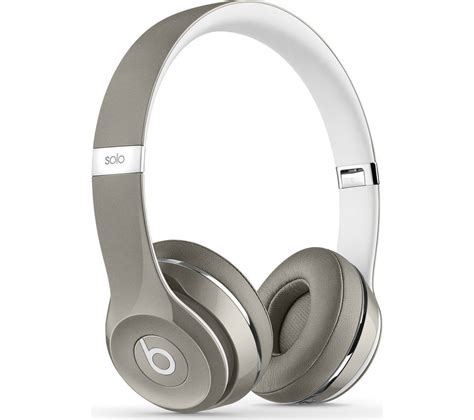 Buy BEATS Solo 2 Headphones  Luxe Edition, Silver Free