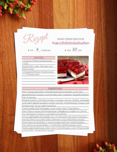 Wird verwendet, wenn mehr als ein rezept auf einer seite verwendet wird. Rezeptvorlage zum Drucken // Printable recipe template // Kochbuch selber drucken // Backrezepte ...