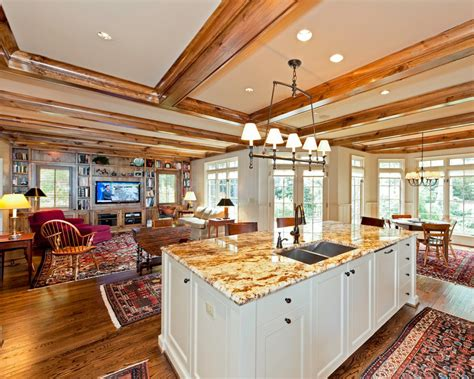 White King Headboard Wood by Open Concept Floor Plans Kitchen Traditional With Open