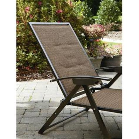 garden oasis harrison matching folding padded sling chaise