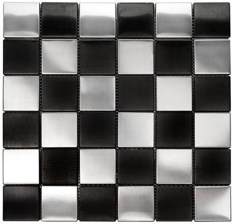 travertine shower tiles square metal 2x2 quot silver and black mosaic stainless steel tile
