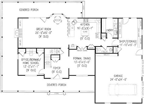 5 Bedroom Home Design Plans : 5 Bedroom House Plans With Wrap Around Porch Lovely House