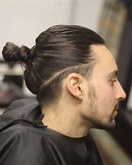 Men Undercut Hairstyles Long Hair Bun