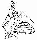 Coloring Pages Igloo Reindeer Winter Clip Architecture Printable Buildings Near Popular Drawing Filminspector Kb sketch template