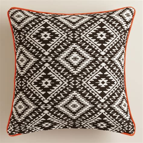 world market pillows black and white geometric throw pillow world market