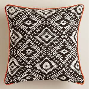 black and white geometric throw pillow world market With black and white toss pillows