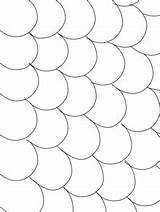 Coloring Pages Blank Scales Fin Patterned Scalloped sketch template