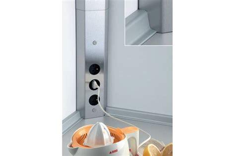 bloc prise cuisine inox bloc 3 prises d 39 angle pour crédence accessoires de cuisines