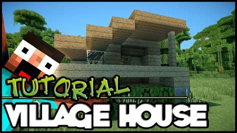 minecraft tutorial hd simple village house youtube