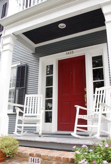 ideas  red front doors  pinterest red