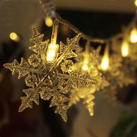 20m 200 luces de navidad new year snowflake led string