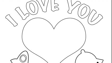 I Love You Coloring Pages For Teenagers Printable At