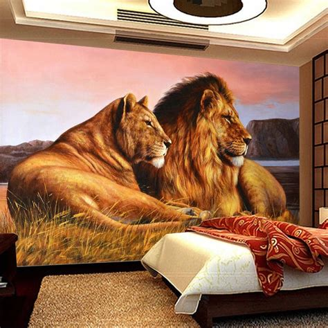 popular wallpaper lion buy cheap wallpaper lion lots