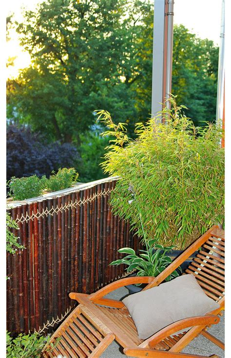 Sichtschutz Fuer Die Terrasse Aus Bambus Oder Aus Kunststoff by Sichtschutz Aus Bambus Selbst De