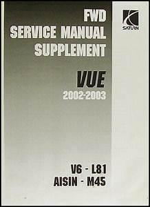 2002 2003 Saturn Vue Repair Shop Manual 4 Volume Set Original