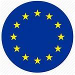 Flag Europe Round Euro Stars Icon Eu