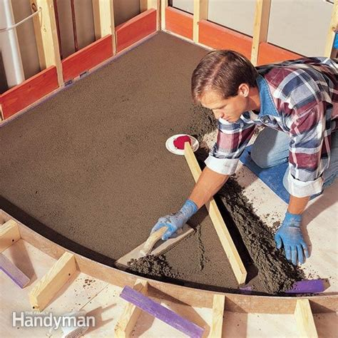 build  shower pan  family handyman
