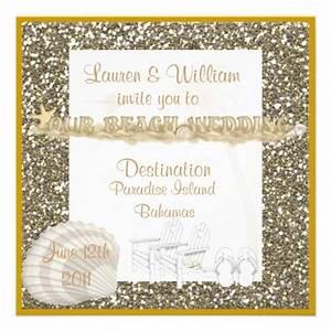 elegant crystal beach wedding invitations beaches beach With fancy wedding invitations with crystals