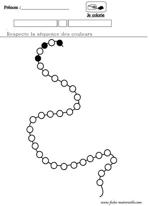 mathematiques maternelle algorithme du collier decouvrir