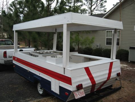 trailer camper pop dog into cart conversion plans food trailers popup truck convert sweet awesome converted concession idea carts converting