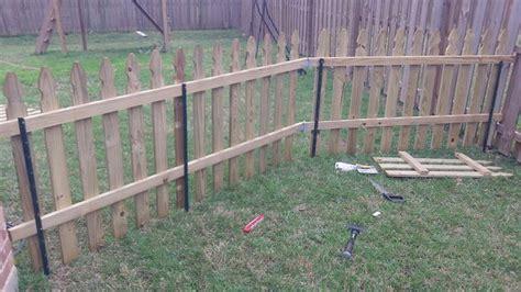 building a semi permanent fence 3