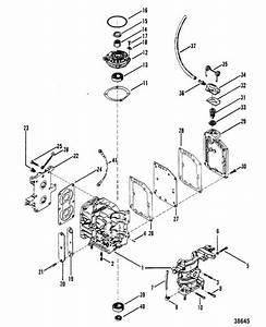 Mercury Marine 9 8 Hp Cylinder Block  U0026 Crankcase Parts