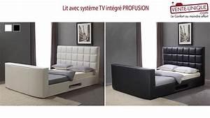 Lit Tv Intégré : lit avec syst me tv int gr profusion youtube ~ Teatrodelosmanantiales.com Idées de Décoration
