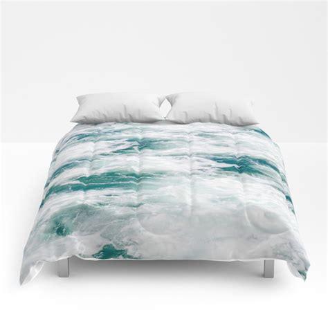 marble water comforter ocean coastal style full king