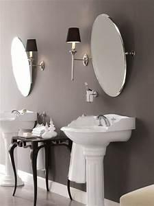 Miroir Pour Salle De Bain : miroir basculant ovale pour salle de bain eve by gentry home ~ Dode.kayakingforconservation.com Idées de Décoration