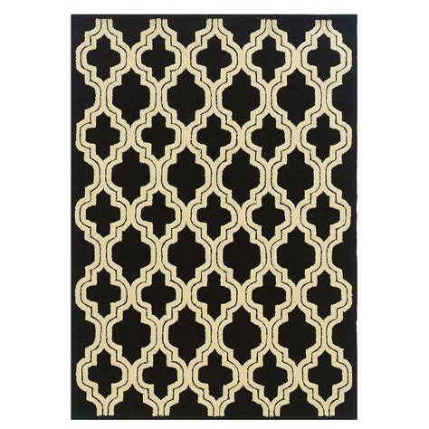 outdoor ls home depot linon home decor le soliel collection black and ivory 8 ft