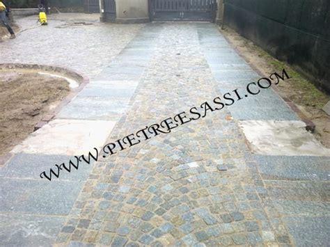 Ingresso Carrabile Pavimentazione In Cubetti Di Luserna E Lastre Pietreesassi