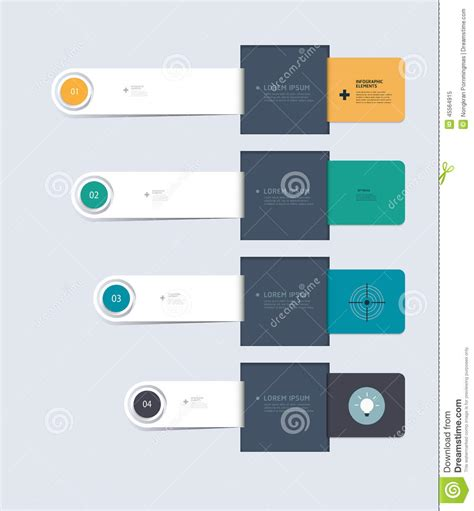 step by step template minimal infographic elements step by step template design stock vector image 45564915